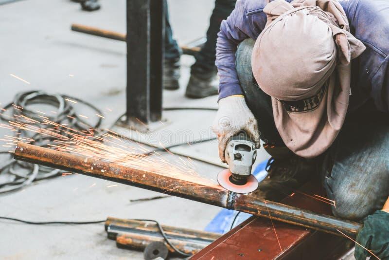 Malend staal en Staallassen royalty-vrije stock foto