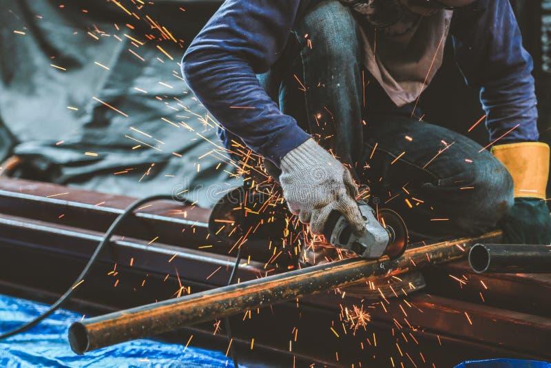 Malend staal en Staallassen stock foto