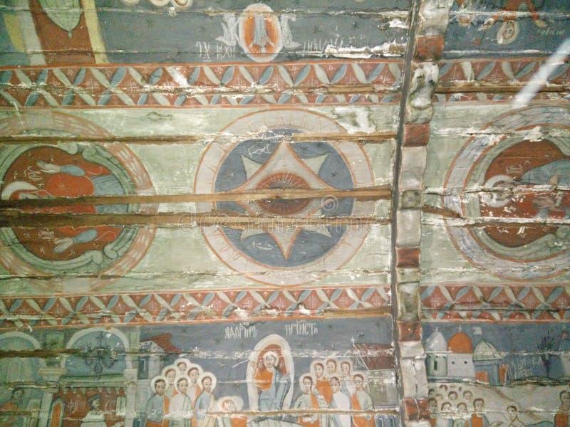 Malende alte Kirche Siebenbürgen lizenzfreies stockfoto
