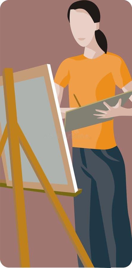 Maler-Abbildung lizenzfreie abbildung