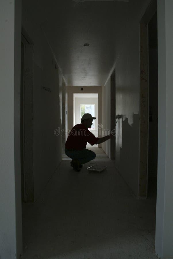 Maler-Schattenbild Stockfotos
