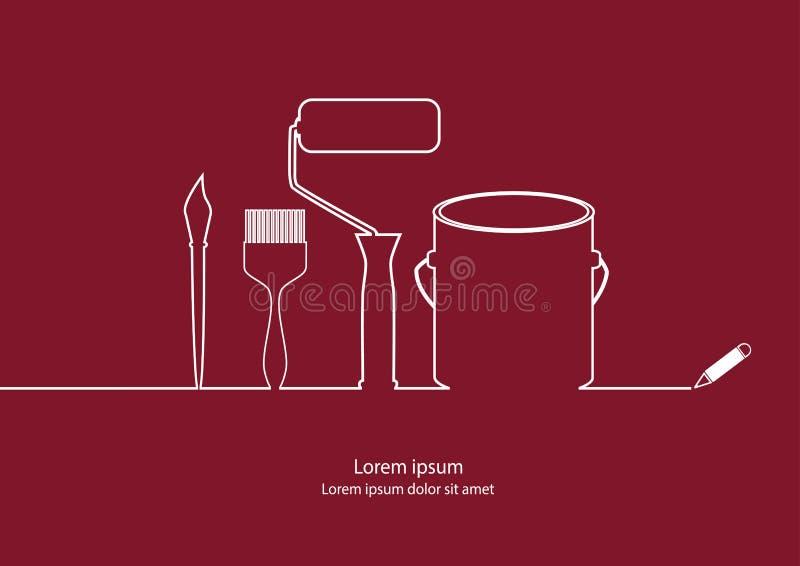 Maler-Tools-Entwurf lizenzfreie abbildung