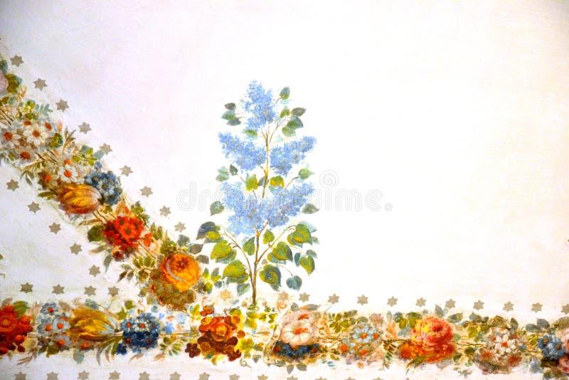 Malerei auf weißem Hintergrund lizenzfreies stockbild