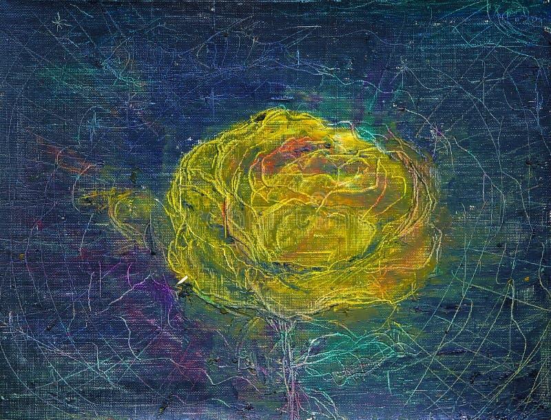 Malerei der abstrakten Kunst der Rose lizenzfreie abbildung