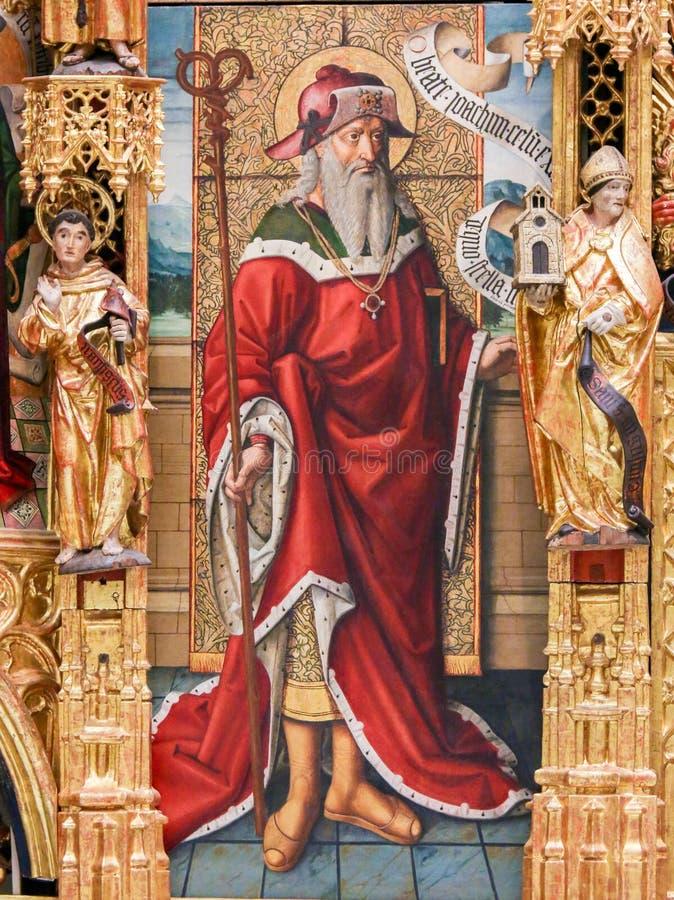 Malerei des Heiligen Joachim, Vater von gesegnetem Jungfrau Maria stockfoto