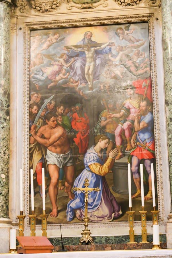 Malerei von Basilika St. Petero, Vatikan stockbilder