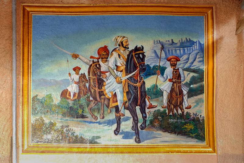 Malerei von Chhatrapati Shivaji Maharaj lizenzfreies stockfoto