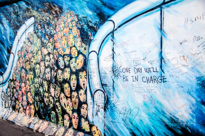 Malereien, Berlin Wall lizenzfreie stockbilder