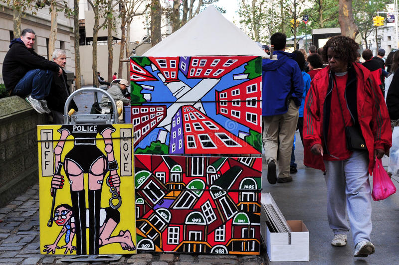 Malereien der modernen Kunst in Manhattan New York City lizenzfreies stockbild