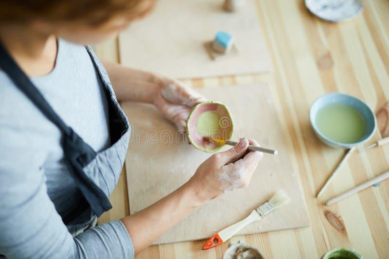 Malereitöpferware stockbilder