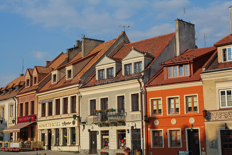 Malerische alte Stadt von Sandomierz, Polen lizenzfreies stockbild