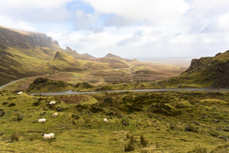 Malerische nahe Winterlandschaft in der Insel von skye Nord-Schottland Vereinigtes Königreich Europa stockfotos