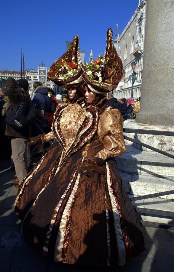 Malerischer Frauenkostüme Venedig-Karneval lizenzfreie stockfotografie