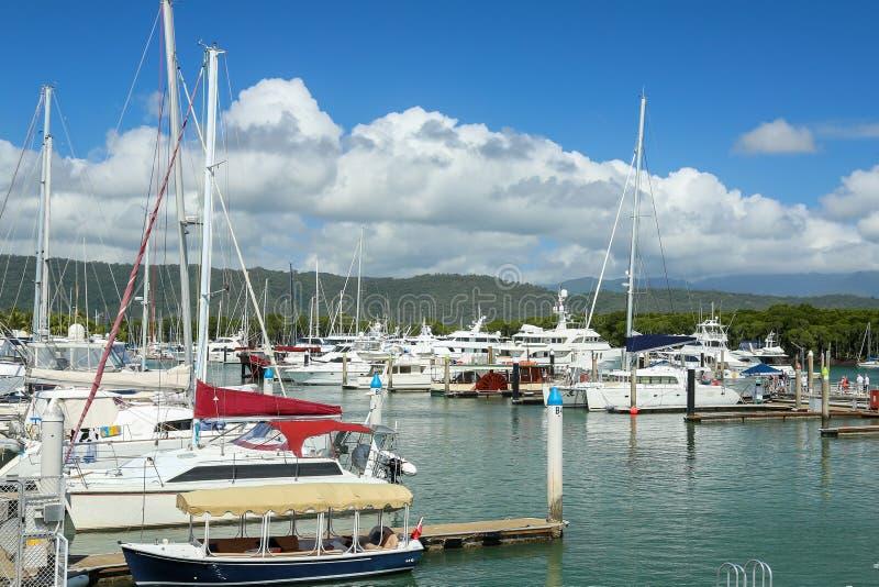Malerischer Hafen Douglas Marina lizenzfreies stockfoto