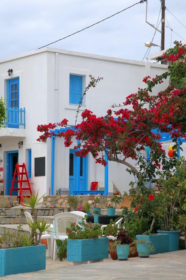Malerisches Gebäude auf der Insel von Tilos stockbilder