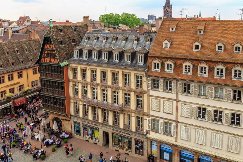 Malerisches Straßburg stockbild