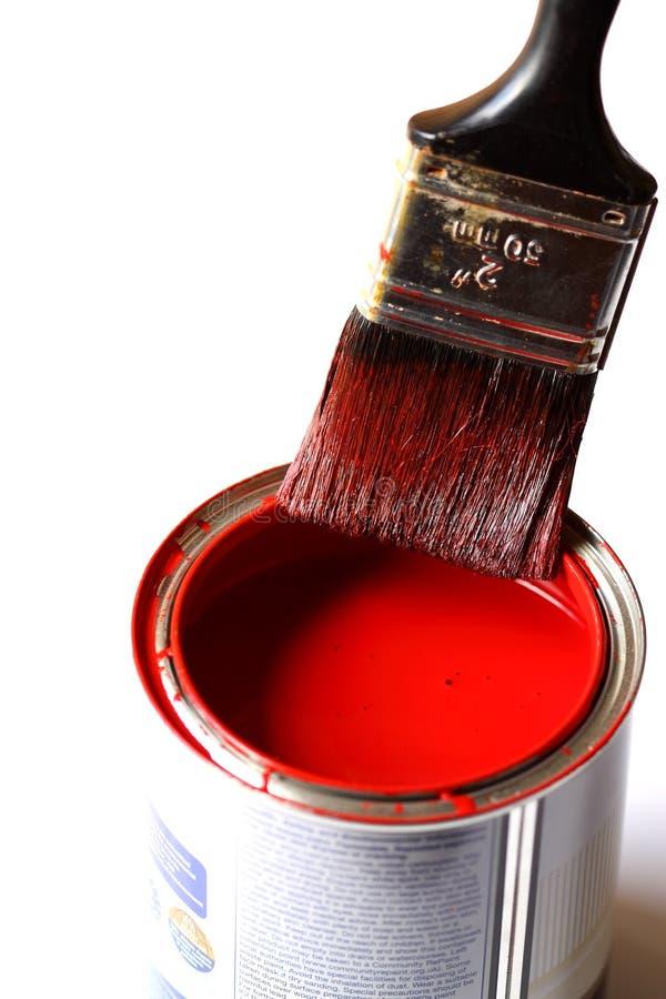 Malerpinsel Auf Zinn Stockfotografie