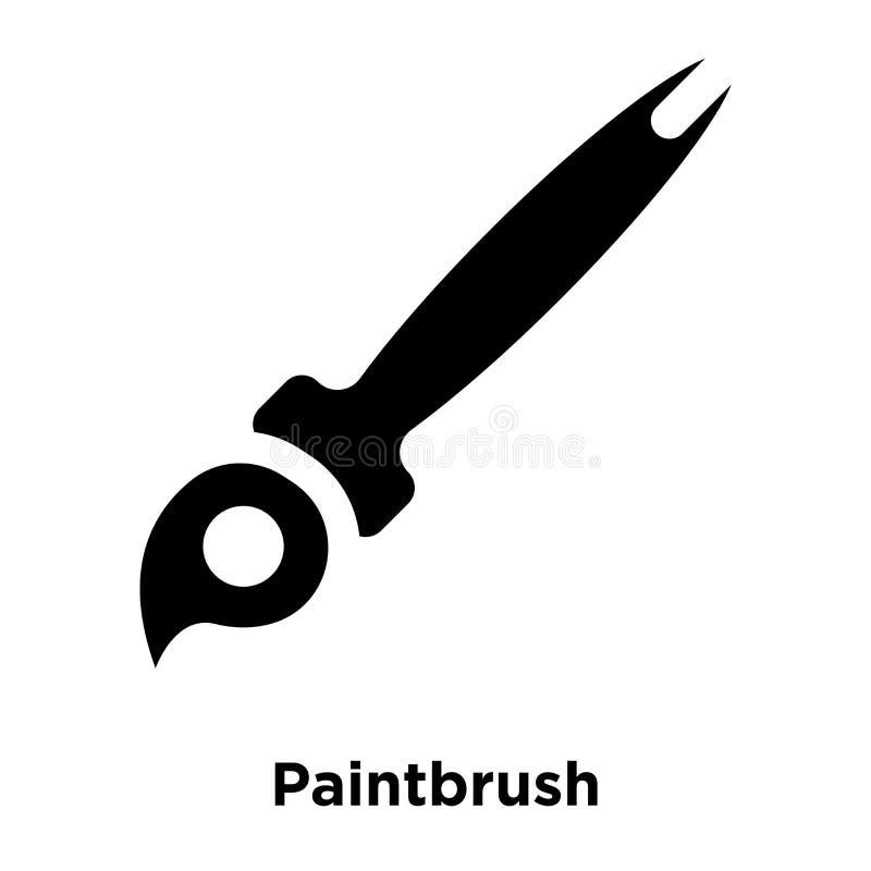 Malerpinselikonenvektor lokalisiert auf weißem Hintergrund, Logo concep stock abbildung