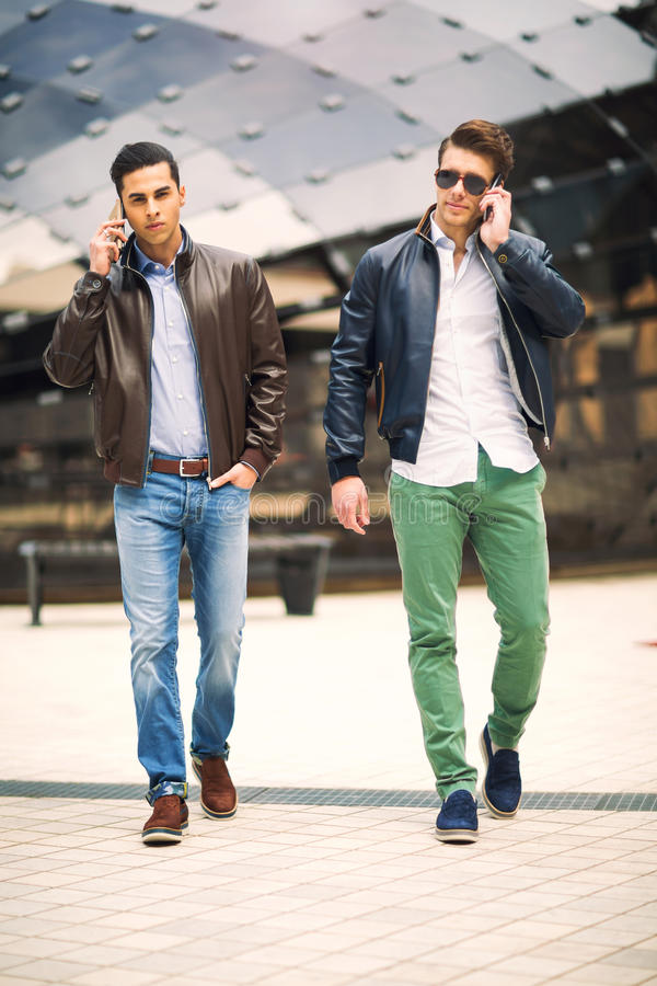 Males beautiful models outdoors royalty free stock images