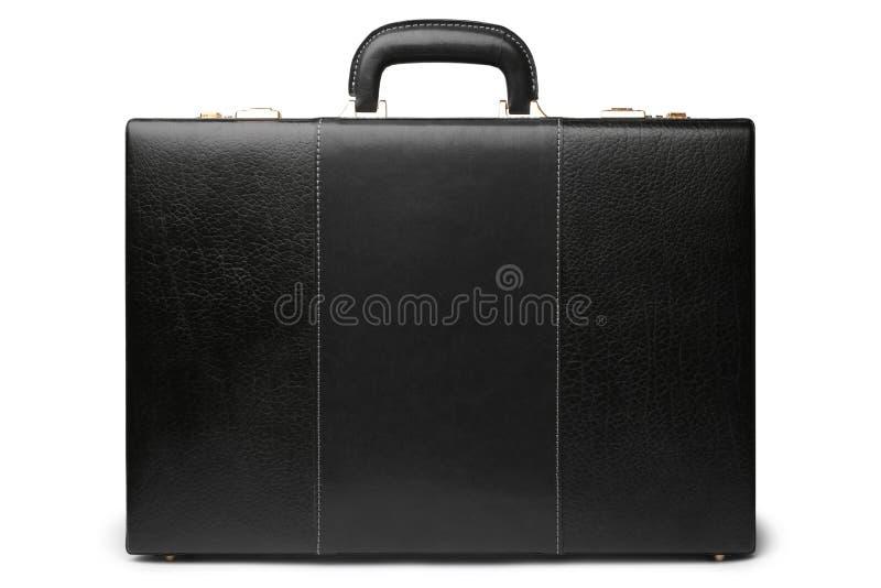 Maletín comercial de cuero negro imagen de archivo libre de regalías