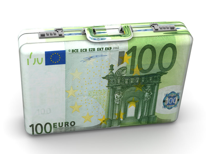 Maleta con euro libre illustration