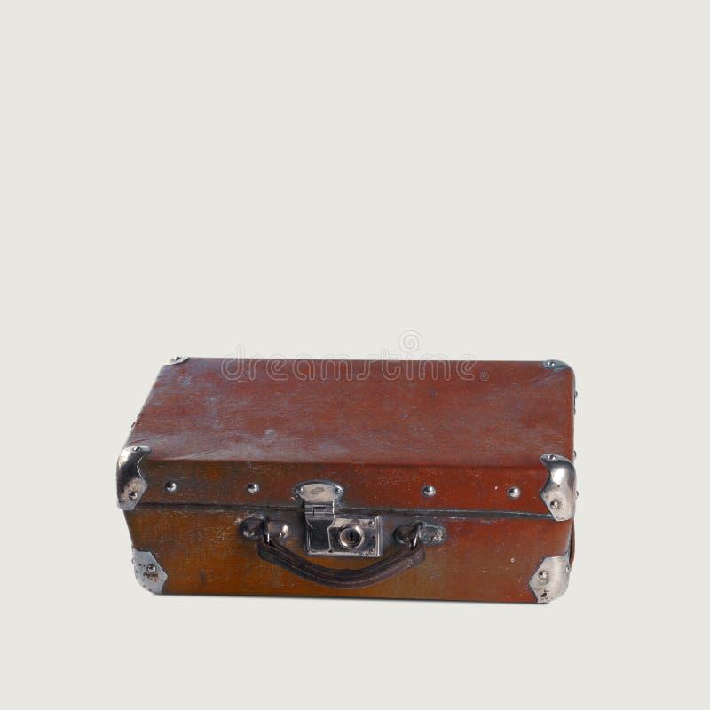 Maleta marrón de la vendimia foto de archivo libre de regalías