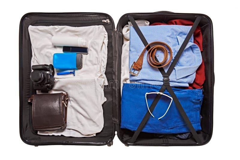 Maleta para viajar imagen de archivo libre de regalías