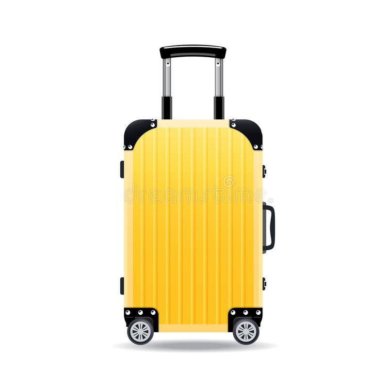Maletas realistas coloridas del viaje, casos, bolsos para el equipaje, en las ruedas libre illustration