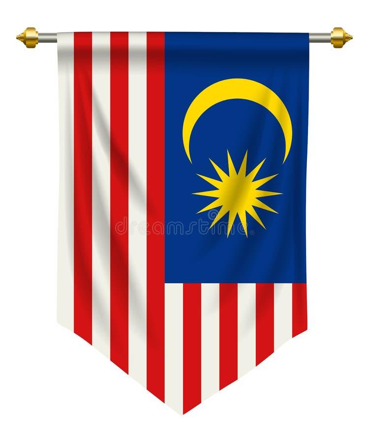 Malezja banderka ilustracji
