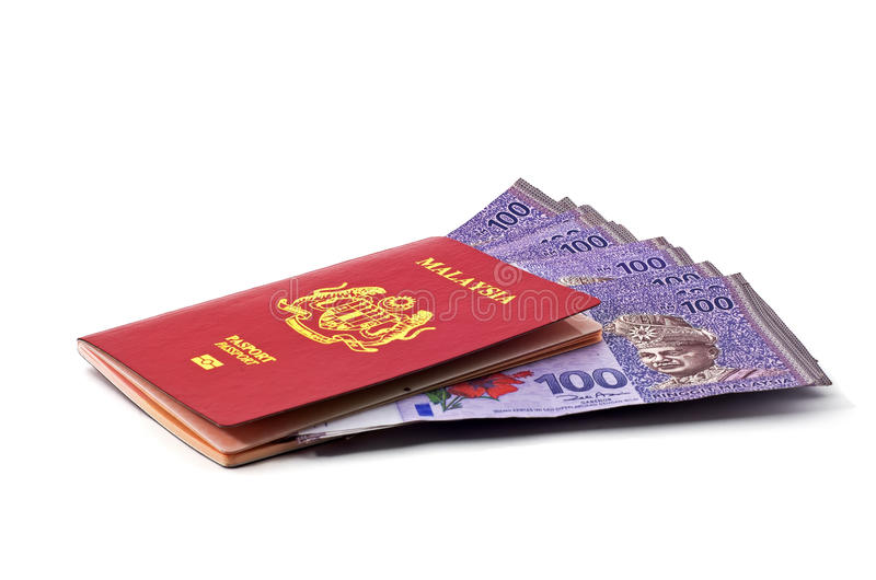 Malezja banknoty obrazy stock