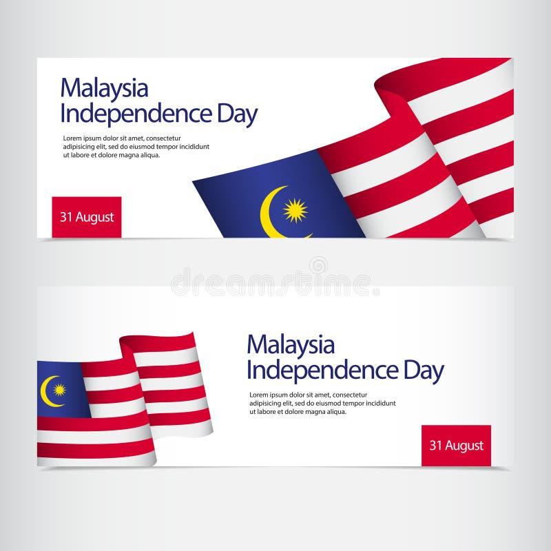 Malezja dnia niepodległości świętowania szablonu projekta Wektorowa ilustracja ilustracja wektor
