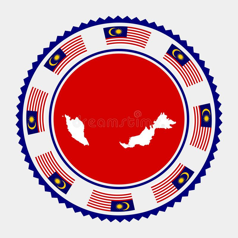 Malezja mieszkania znaczek ilustracja wektor
