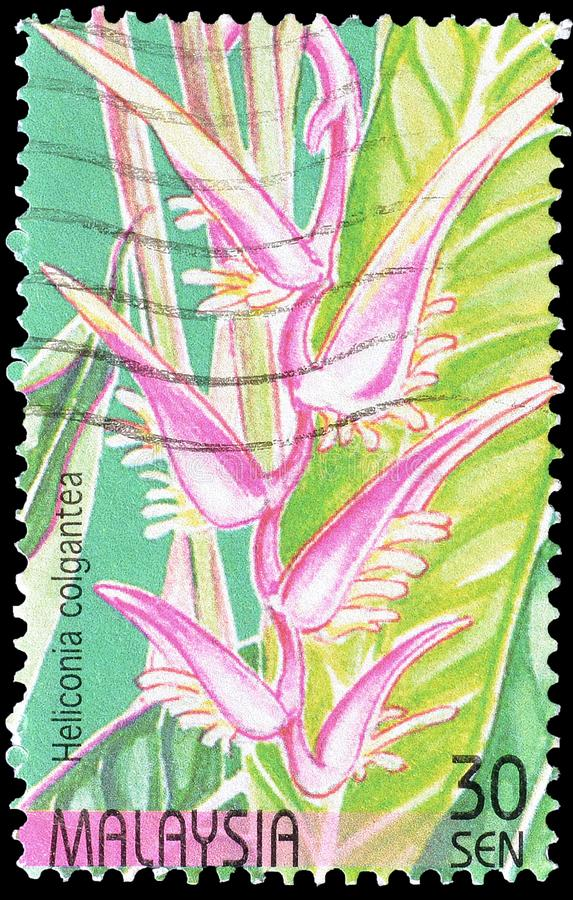 Malezja na znaczkach pocztowych zdjęcie stock