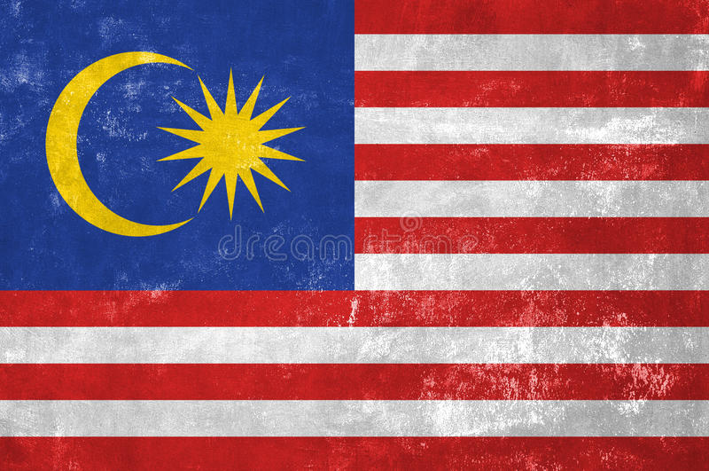 Malezyjczyk flaga obrazy stock