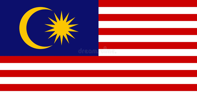 Malezyjczyk flaga, płaski układ, wektorowa ilustracja royalty ilustracja
