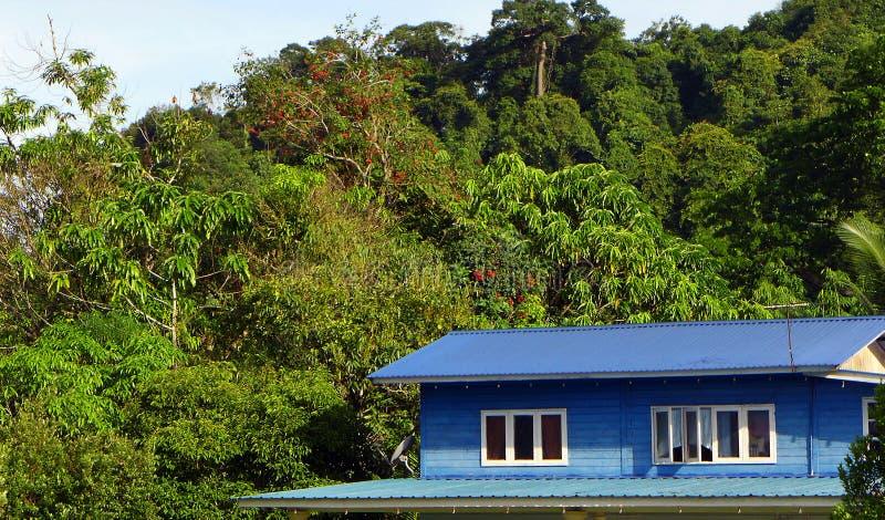 Malezyjczyk wioski stylowy drewniany dom obraz stock