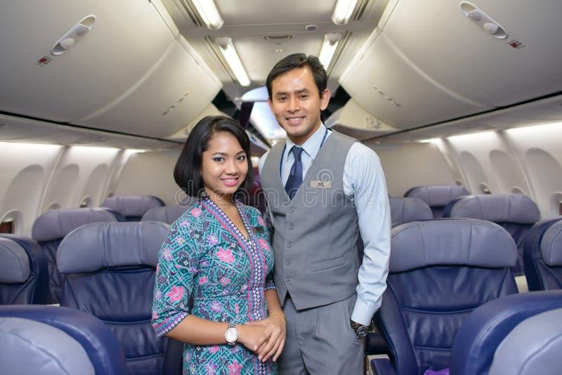 Malezyjscy linii lotniczej za?oga cz?onkowie obraz stock