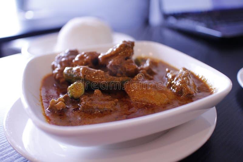 Malezyjska curry wołowina obrazy royalty free