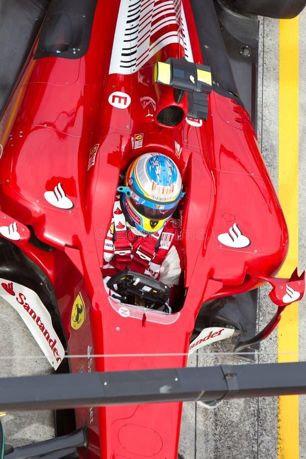malezyjski Alonso dołowanie f1 Fernando obrazy royalty free