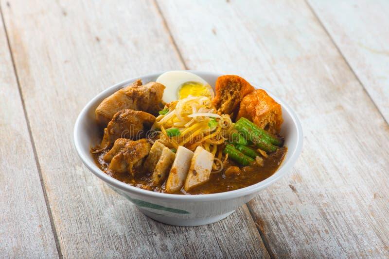 Malezyjski curry'ego kluski obrazy stock