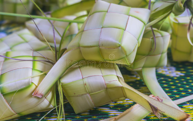 Malezyjski Tradycyjny jedzenie, Ketupat fotografia royalty free