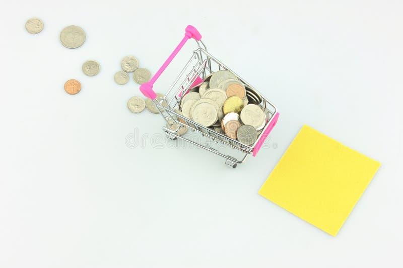 Malezyjskiego Ringgit centy w białym tle zdjęcie stock