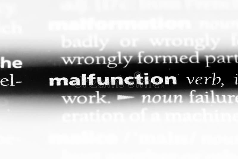 malfunction image stock