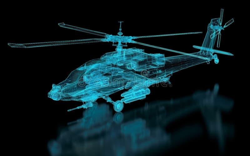 Malha do helicóptero ilustração royalty free