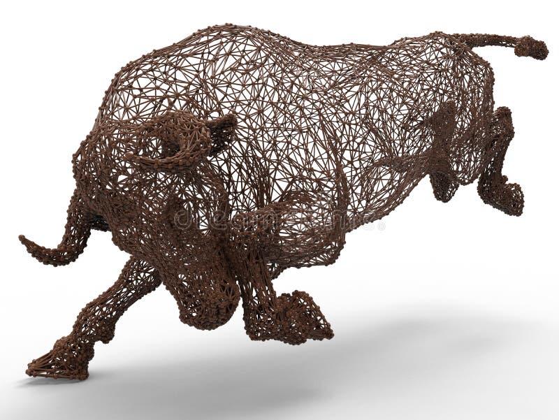 Malha do touro de Digitas ilustração stock