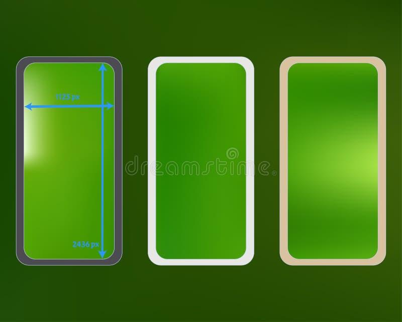Malha, jogo colorido verde dos fundos do telefone ilustração stock