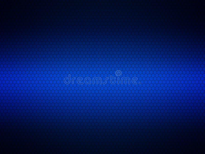 Malha metálica do cromo azul fundo e textura do metal ilustração royalty free