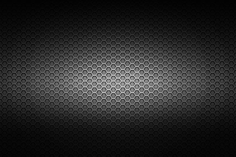 Malha metálica do cromo preto fundo e textura do metal ilustração do vetor
