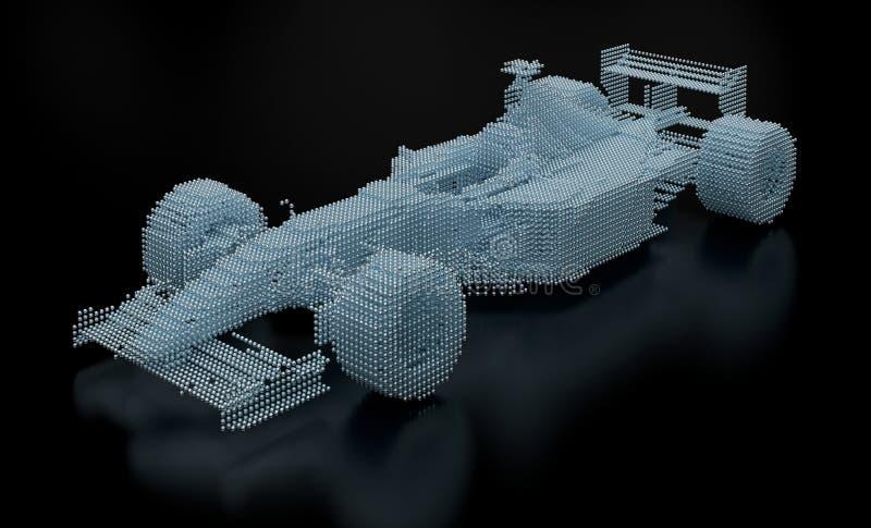 Malha pontilhada do Fórmula 1 fotografia de stock