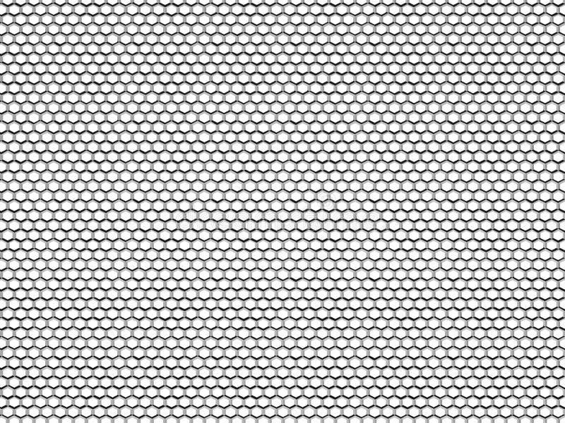 Malha sextavada da textura do metal ilustração royalty free